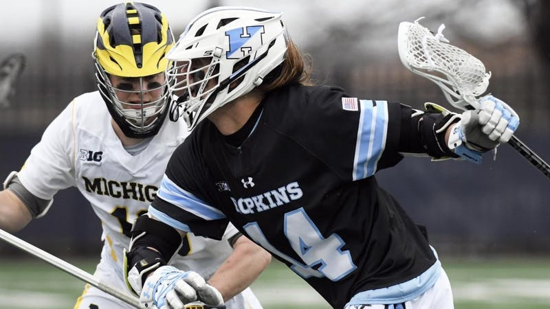 hopkinssports.com  Junior attackman Cole Williams helped Hopkins go on a 10-0 run after the first quarter.