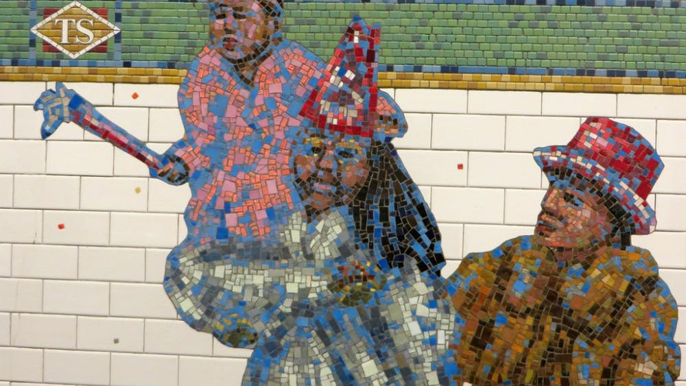 Eden, Janine and Jim / CC-BY-2.0 Jane Dickson's work includes a mosaic in New York's Time Square subway station.