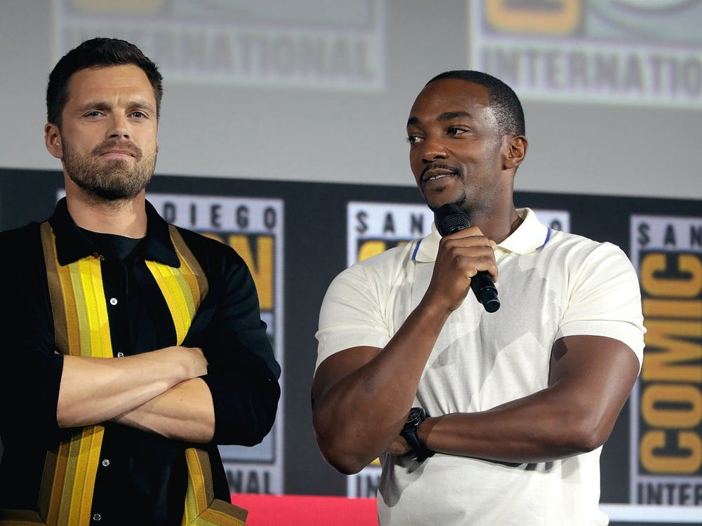 GAGE SKIDMORE/CC BY-SA 2.0 Actors Anthony Mackie and Sebastian Stan play the roles of Falcon and the Winter Soldier, respectively.