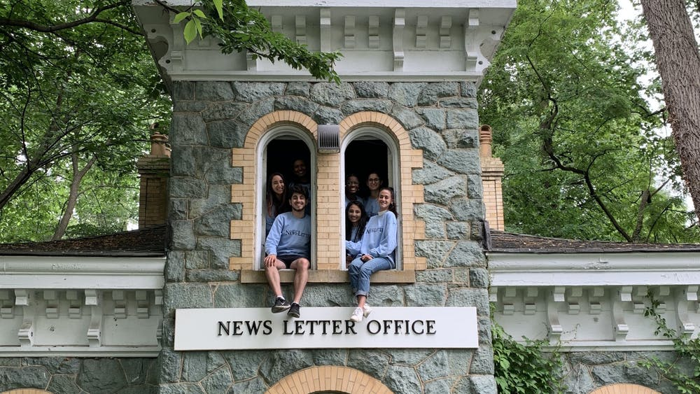 COURTESY OF KATY WILNER Wilner, pictured here with other graduating editors of The News-Letter, spent much of her undergraduate experience working for the paper.