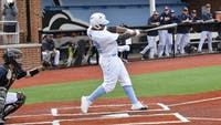 HOPKINSSPORTS.COM Nate Davis's 5 home runs earned him Conference Hitter of the Week