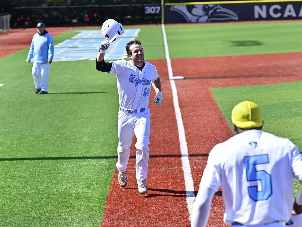 COURTESY OF HOPKINSSPORTS.COM The Jays took care of business against McDaniel College, winning both games of the doubleheader.