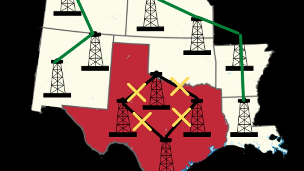 LAKSHAY SOOD/LAYOUT EDITOR Hopkins experts described how the severity of the winter storms took the Electric Reliability Council of Texas by surprise.