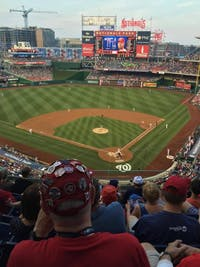 COURTESY OF NATHAN BICK An action shot at Nationals Park in D.C. as the Nats are up to bat.