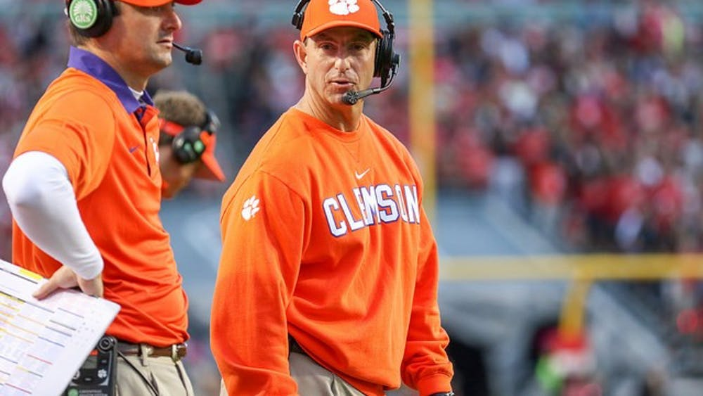 LambeauLeap80/CC-BY-SA-4.0  Dabo Swinney is looking to carry Clemson to another Championship.