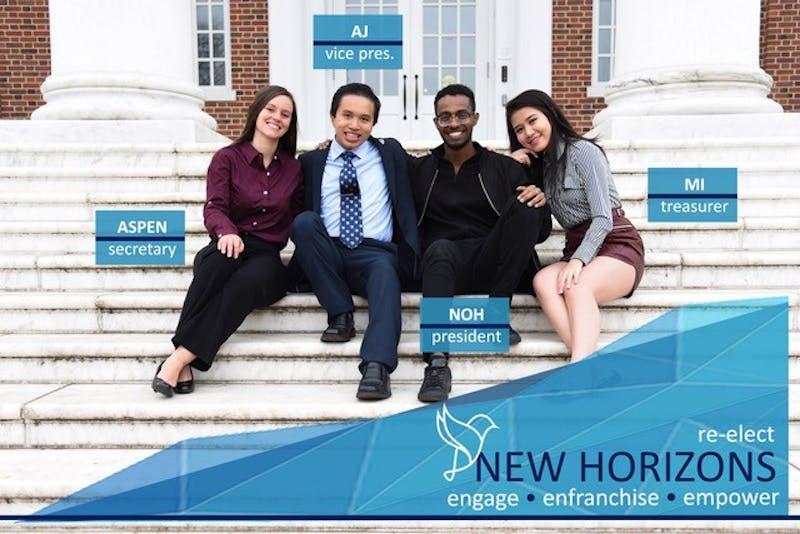 COURTESY OF NEW HORIZONS The New Horizons ticket consists of Noh Mebrahtu, AJ Tsang, Mi Tu and Aspen Williams.