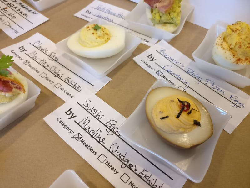 Courtesy of Jesse Wu Deviled eggs competed against each other for a variety of awards.