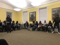 Students gathered to discuss the importance of prioritizing mental health for minority students.