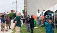 COURTESY OF BRIANNA DANG  Community members gathered to celebrate black art on Pennsylvania Avenue.