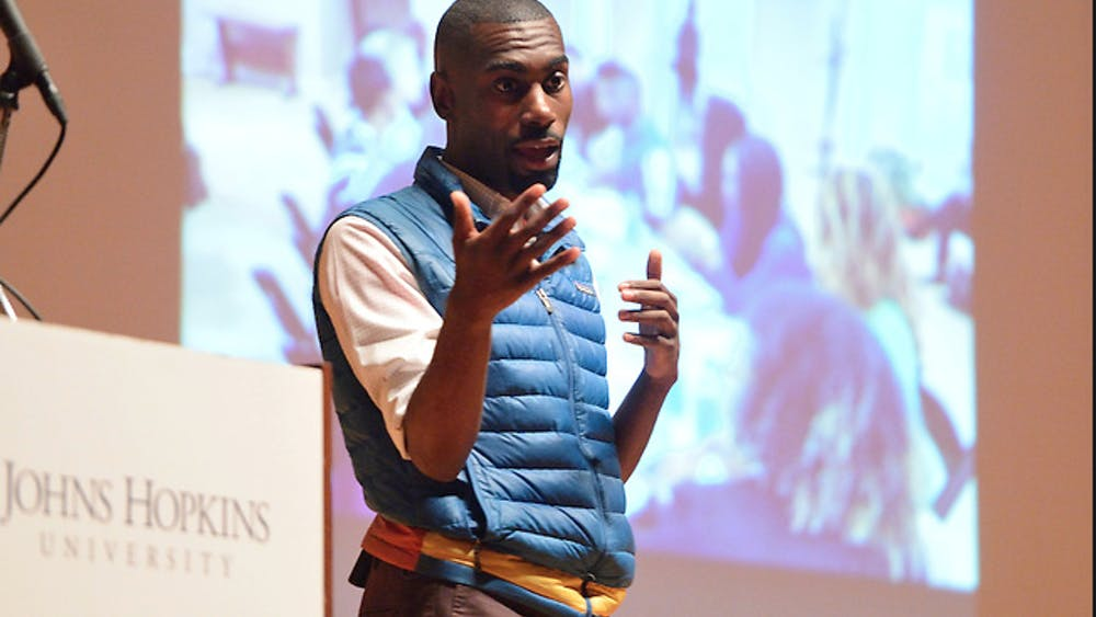Courtesy of EYAL FONI Mckesson discussed the importance of social media in activism.