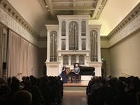 COURTESY OF EUNICE PARK Duo Ingolfsson-Stoupel presented a spectacular program at Peabody.