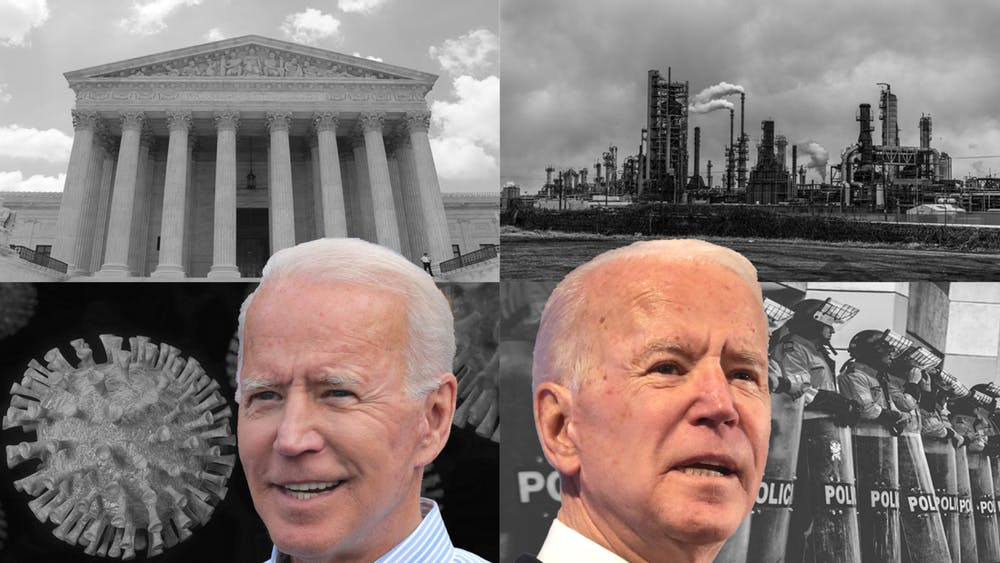 PUBLIC DOMAIN / JOHN D'CRUZ DESIGN BY LAKSHAY SOOD Faced with two subpar candidates and a broken political system, Nelson defends the decision not to cast a ballot while Jin makes the case for progressives and leftists to vote Biden.