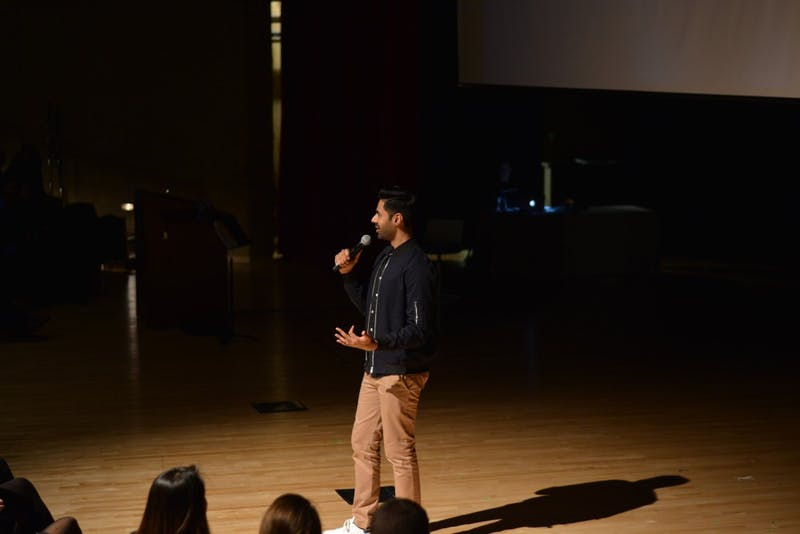 COURTESY LAUREN QUESTELL Hasan Minhaj showcased his comedic skill at MSE's final event of the year.