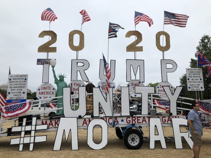 Hundreds of people participated in the MOAR rally on Saturday to show their support for President Donald Trump.  Many attendees expressed their favor for traditional American beliefs.