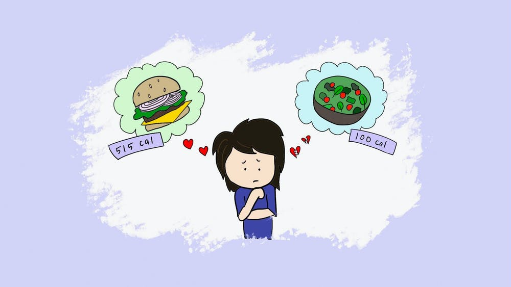 ROSIE JANG/CARTOONS EDITOR Andersson critiques the culture surrounding food at Hopkins, encouraging students to nourish their bodies.