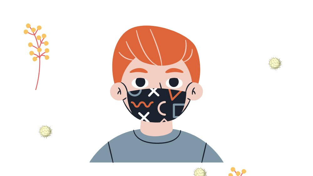 LAKSHAY SOOD/GRAPHICS EDITOR Researchers found that nurses with seasonal allergies benefited the most from wearing masks.