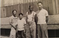 COURTESY OF GAYLE OSHIMA Ome's grandfather, age six, and his family were interned in Tule Lake, Calif.