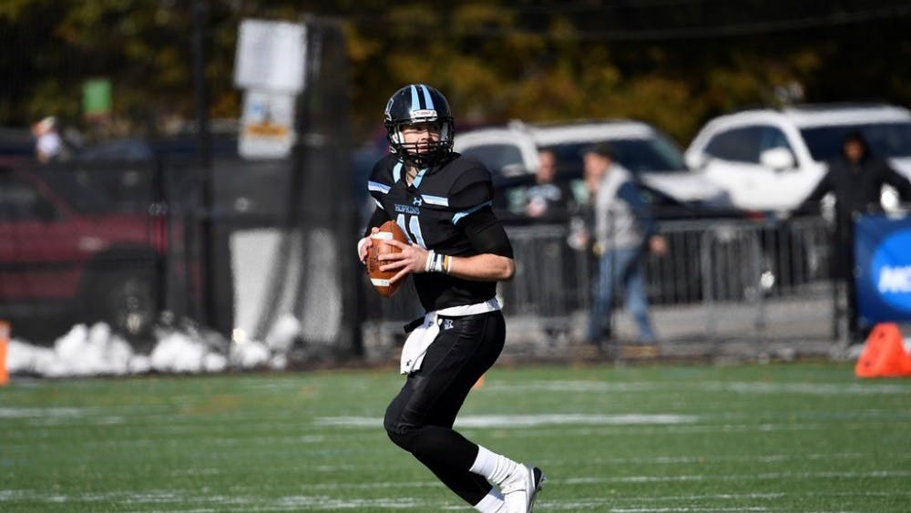 HOPKINSSPORTS.COM Quarterback David Tammaro has led the Blue Jays to 11 straight wins.