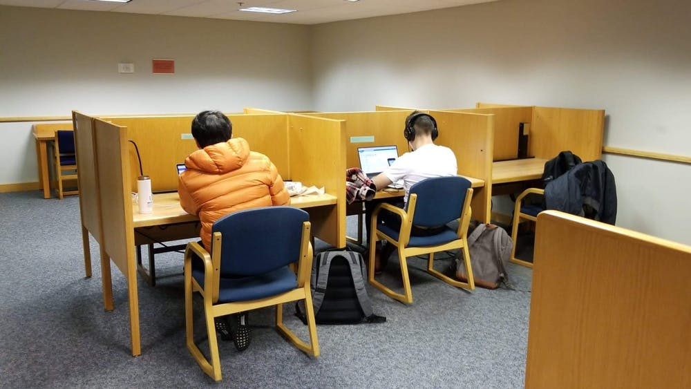 FILE PHOTO Students are known to study day and night in the Milton S. Eisenhower Library and in Brody Learning Commons.