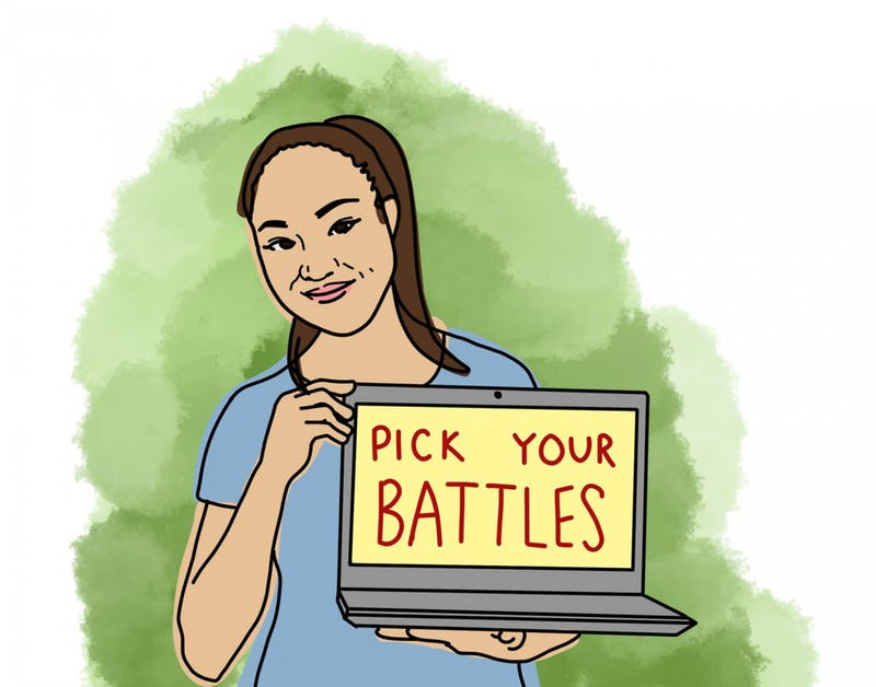 COURTESY OF STEPHANIE LEE For Lee, it's important to figure out which battles are worth your time.