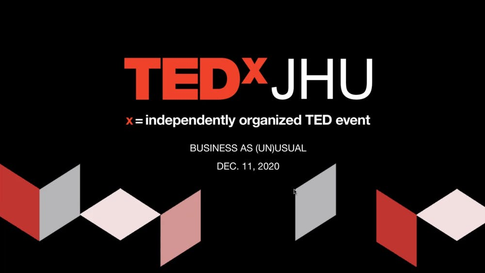 COURTESY OF TEDxJHU Four students gave talks at TEDxJHU's annual salon event.