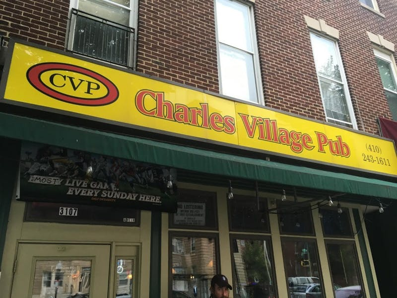 COURTESY OF ROLLIN HU Charles Village Pub is located on St. Paul Street and is frequented by Hopkins students.