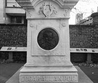 PUBLIC DOMAIN Edgar Allen Poe's grave is located at the Westminster Hall and Burying Ground.