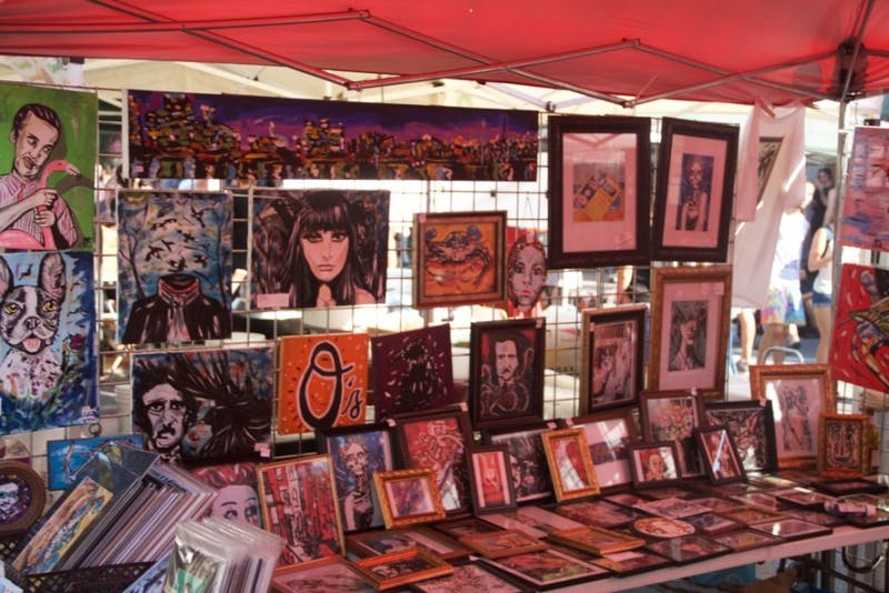 LEON SANTHAKUMAR/PHOTOGRAPHY EDITOR  Held on W. 36th Street each year, Hampdenfest hosts a diverse selection of food and art vendors.
