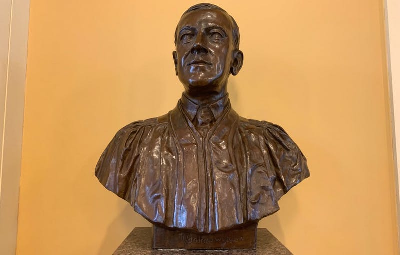 COURTESY OF MORGAN OME A bust of Woodrow Wilson sits in Mason Hall.