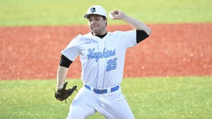 HOPKINSSPORTS.COM Senior Nick Burns was named Centennial Conference Pitcher of the week.