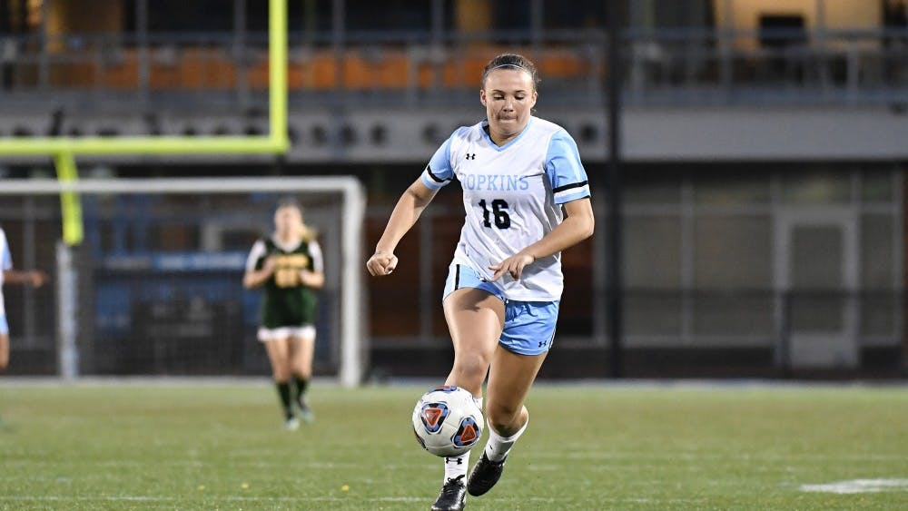 HOPKINSSPORTS.COM  Sophomore forward Riley O'Toole added three goals to the weekend.