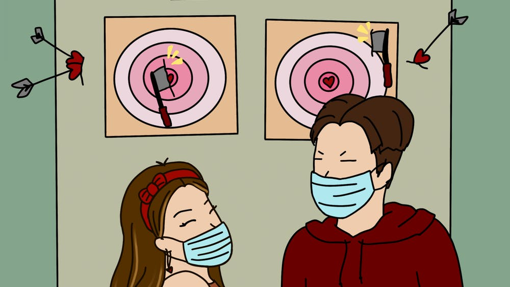 ROSIE JANG/CARTOONS EDITOR You don't need a bullseye to score some points with your significant other with this date idea.