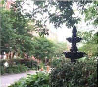 COURTESY OF RENEE SCAVONE Located near the cafe, this little park is the perfect place to eat lunch.