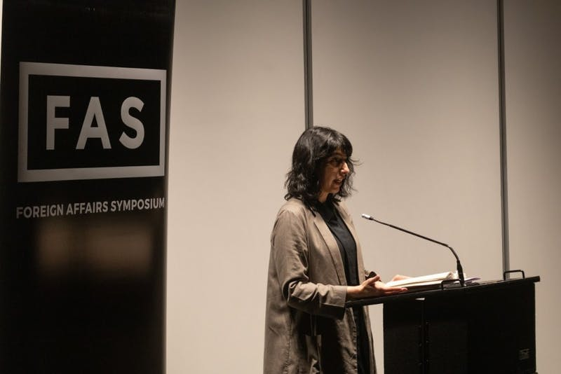 EDA INCEKARA/PHOTOGRAPHY EDITOR Poet Solmaz Sharif discussed her book Look at FAS.