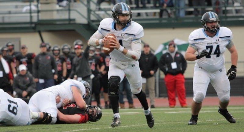 HOPKINSSPORTS.COM Sophomore quarterback David Tammaro completed 23 of 50 passes.