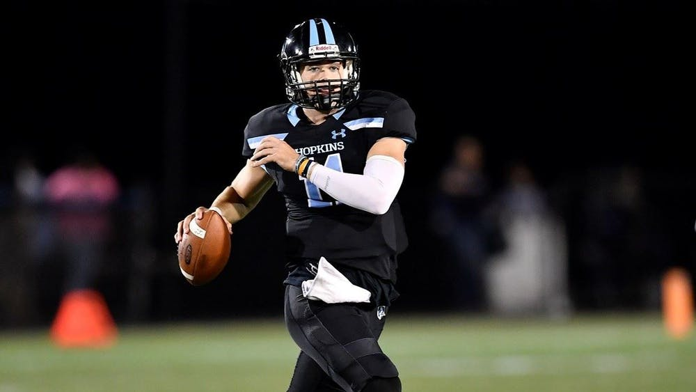HOPKINSSPORTS.COM Quarterback David Tammaro continues to achieve all kinds of milestones in his senior year.