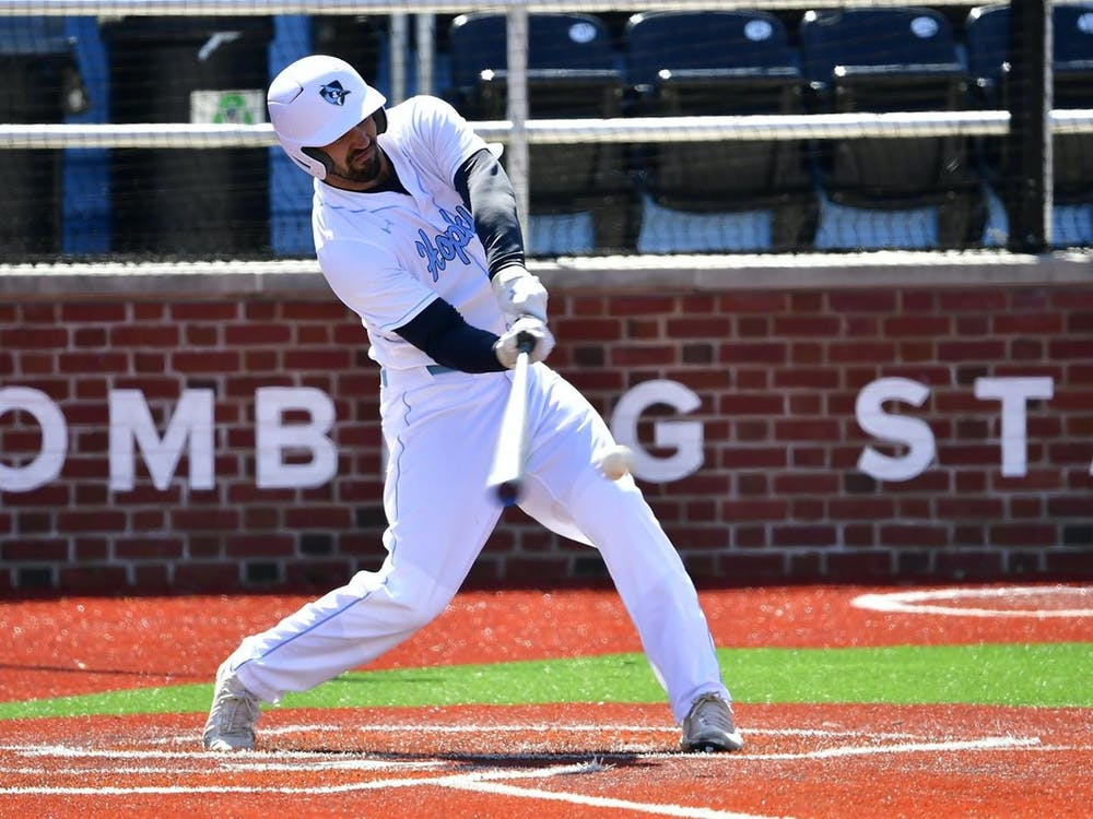 COURTESY OF HOPKINSSPORTS.COM Junior Jared deFaria homered twice over the weekend, fueling the Jays' offense both games.