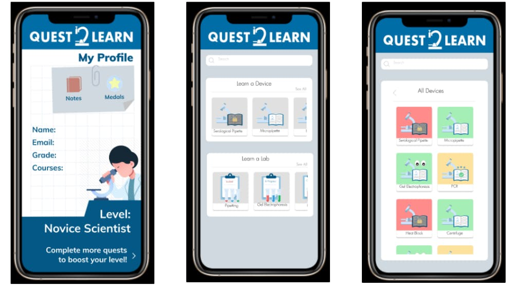 COURTESY OF QUEST2LEARN The team hopes that their new app will be used both during and after the pandemic.