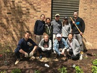 COURTESY OF KEELIN REILLY Many members of Students for Environmental Action worked to expand their butterfly garden this Earth Week