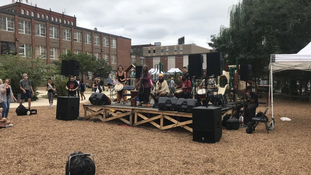 COURTESY OF SHUBHA VERMA The rhythm festival brought good vibes to the Baltimore Montessori school.
