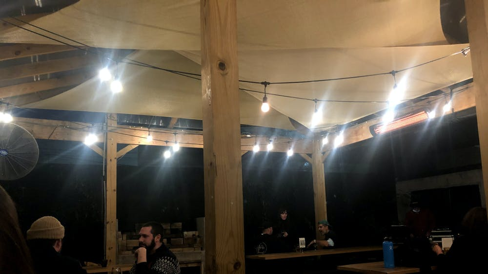 COURTESY OF SABRINA ABRAMS Fadensonnen's lights, tents and picnic benches all contributed to a cozy and cool vibe.