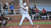COURTESY OF HOPKINSSPORTS.COM Senior Frank Clara hit his first career home run against Manhattanville.