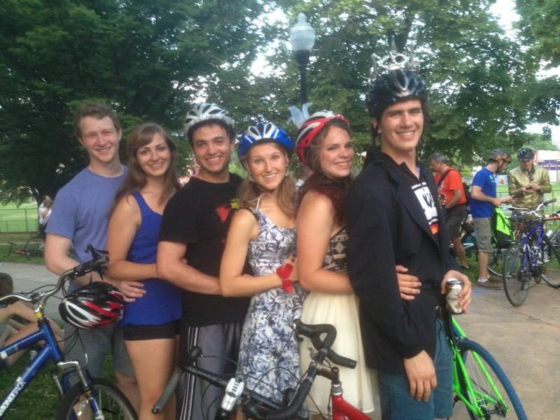 COURTESY OF HANNAH MELTON The Baltimore Bike Party is a great way to explore new parts of the city and meet some locals.
