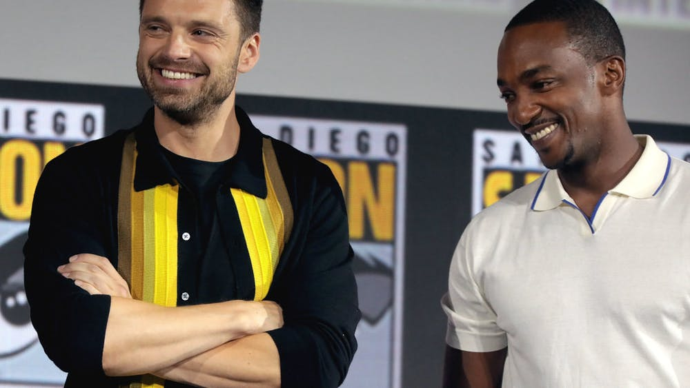 GAGE SKIDMORE/CC BY-SA 2.0 Anthony Mackie and Sebastian Stan, who play the titular stars of Marvel's The Falcon and the Winter Soldier.