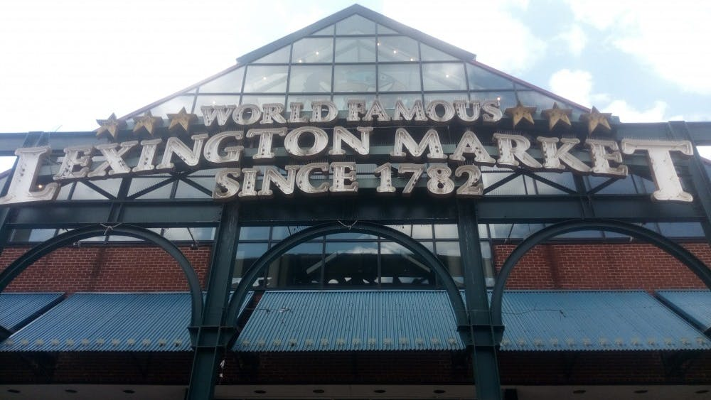 COURTESY OF MEAGAN PEOPLES Over 80 vendors offer their wares at the historic Lexington Market.