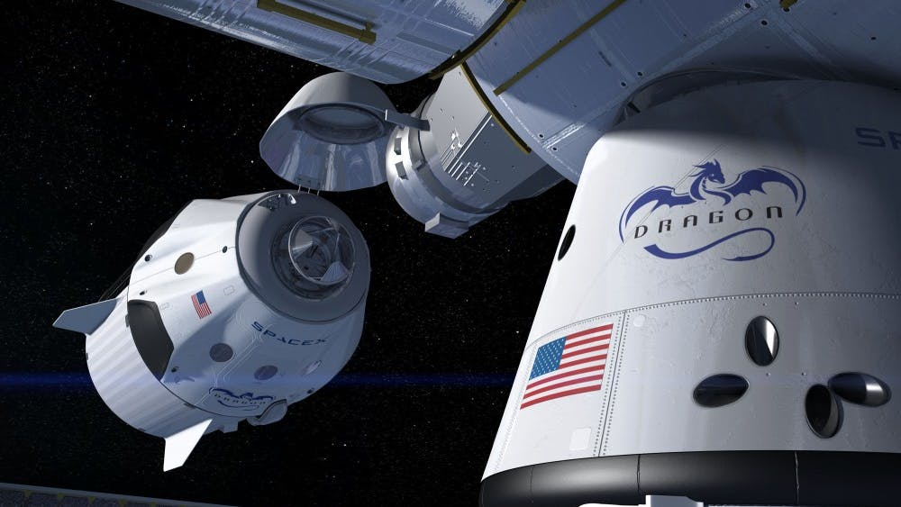 PUBLIC DOMAIN Crew Dragon's successful launch prompts future manned missions .