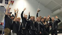 COURTESY OF HOPKINSSPORTS.COM  The men's swim team took fourth at the NCAA National Championships, while the women took fifth.