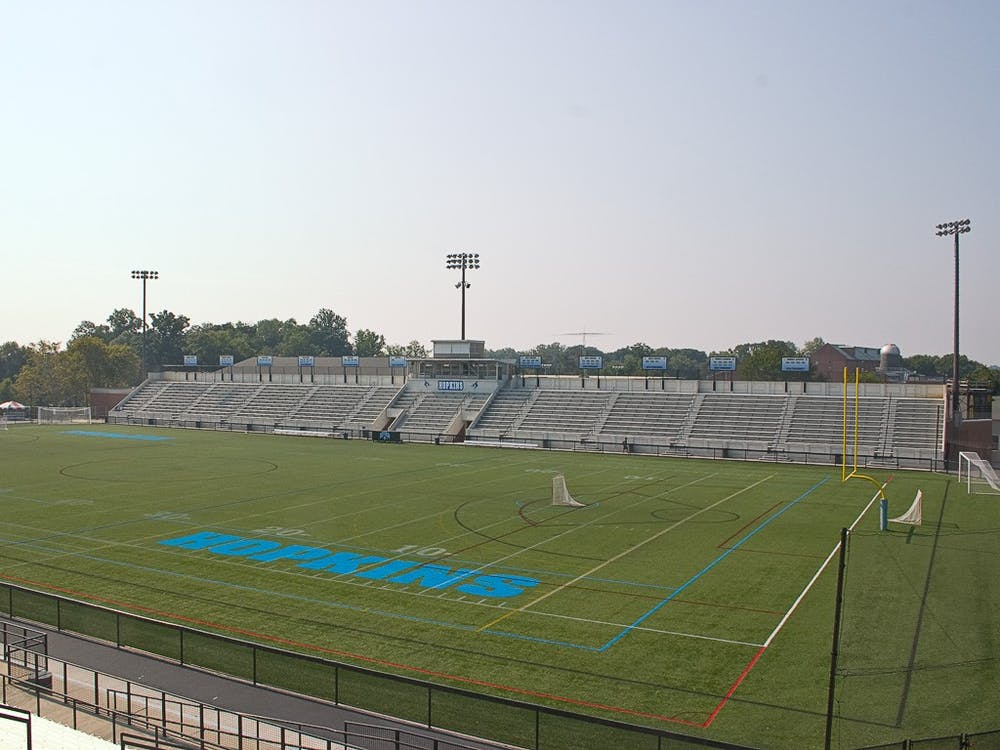FREDERIC C. CHALFANT / CC BY-SA 3.0 Homewood Field is the home to a number of fall sports programs, including football, men's and women's soccer, and field hockey.