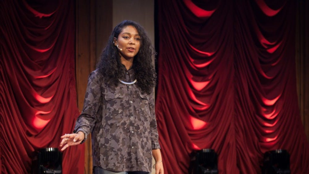 Dian Lofton/CC BY-NC 2.0 Safia Elhillo was one of the performers at the BreakBeat event.
