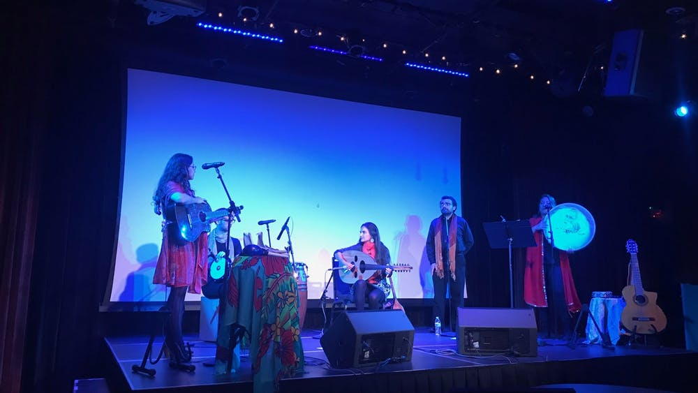 COURTESY OF DANYA QATO The final event opened with a performance from the band Conjunto Bruja.
